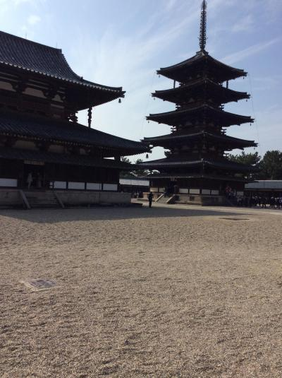 法隆寺は見どころが満載です。