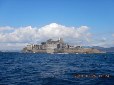 長崎の軍艦島(端島)へツアーで行ったけれど上陸できず・・・