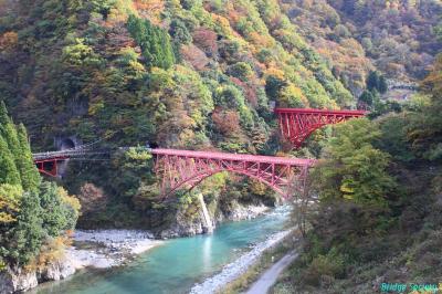 ◆富山 [北陸観光フリーきっぷ]で行く黒部峡谷紅葉狩りと橋梁等を巡る旅◆その2