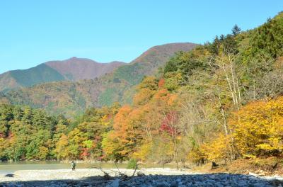 東京で紅葉狩り、奥多摩湖