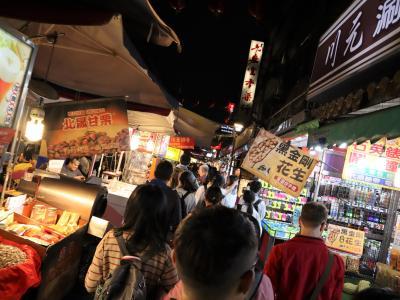 ゆらり台北 あおばの一人旅【初日】 夜市の人波に揺られて