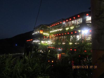 台湾縦断の旅:P5.九分老街の夜景と十分老街のランタン上げ