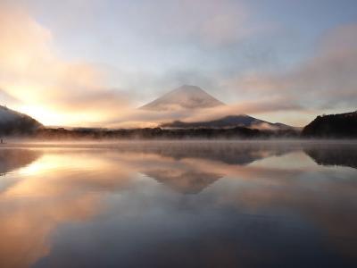 山梨へ 2019.11.16 =1.精進湖にて日の出撮影=