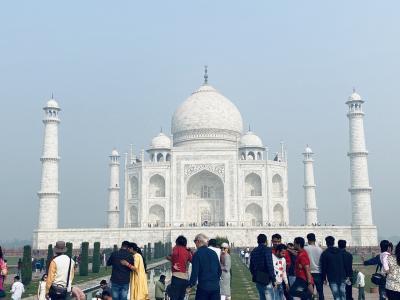 念願のタージマハルへ、インド北部旅行