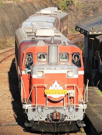 わたらせ渓谷鐵道-1 トロッコ-わたらせ渓谷号 水沼駅に到着 ☆本宿駅を見て先まわり