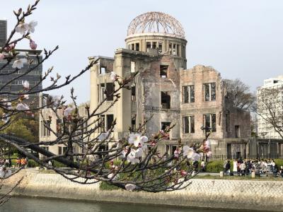 初めての広島2019.3月 広島城、原爆ドーム、平和記念公園、お好み焼き