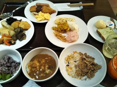 らくスパ1010で宿泊&ホテルウイングインターナショナル新宿で朝食バイキング