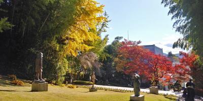 紅葉真っ盛りの笠間日動美術館へ