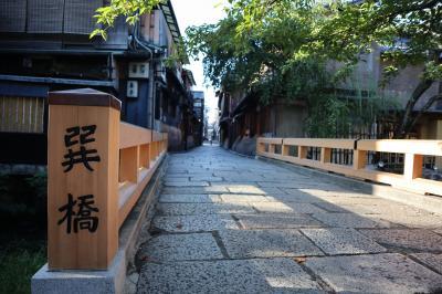 早朝の京都を散歩する旅