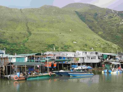 2019年9月夏休み 13 香港 街を避けてランタウ島へ行く その2 今も水上家屋が残る漁村タイオー Tai-O, Hong Kong