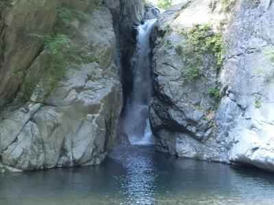 清水一之釜滝を観る