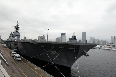 09.CSでベイスターズを応援する横浜1泊 朝の横浜の散歩道その2 大さん橋 日本の空母 DDH-183 いずも