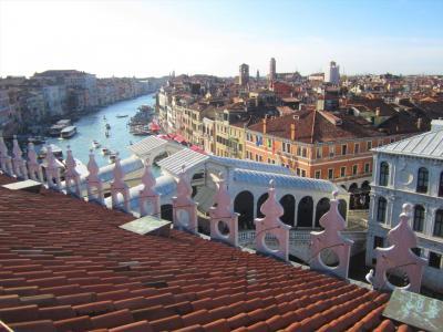 洪水でもベネチアは観光地、宿泊はメストレ駅前
