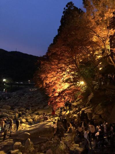 愛知県の香嵐渓で紅葉狩り