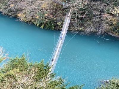絶景の寸又峡・夢の吊り橋
