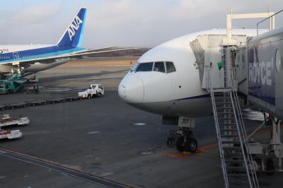 羽田→新千歳、NH65便。羽田空港ラウンジとプレミアムクラスの食事。