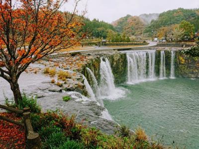 秋の大分巡り2日目。原尻の滝、用作公園そしてベネフィットステーション由布高原へ