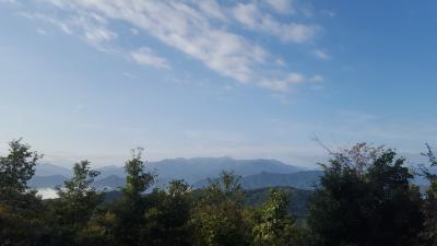 台風一過 高尾山