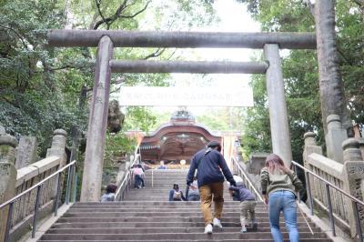 四国周遊・・785段の石段を一段一段上って、金刀比羅宮(こんぴらさん)にお参りします。