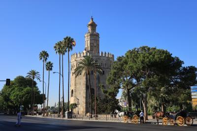 夏旅スペイン、朝のセビーリャ散策 スペイン広場~ヒラルダの塔・黄金の塔