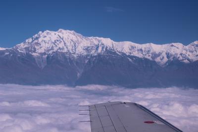 ネパール7日目ポカラ、アンナプルナ遊覧飛行と日本山妙法寺