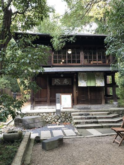 吉田山に登って京大でランチ。御所の紅葉も