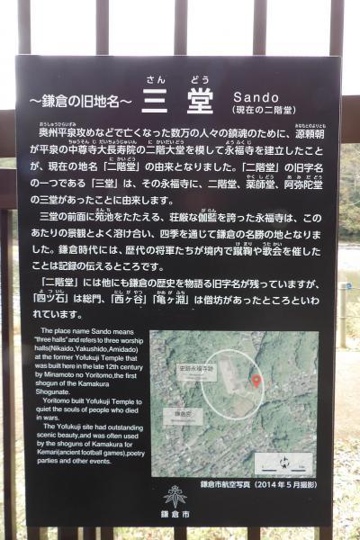 永福寺跡の看板