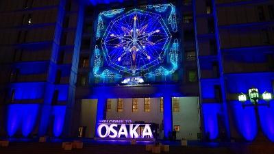 大阪市で写楽展を見た後、御堂筋のイルミを鑑賞 その3。