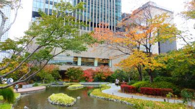 大阪2つの新ホテル宿泊目的2泊3日の旅【紅葉が奇麗な街中の公園(池のある散歩道)散策編】