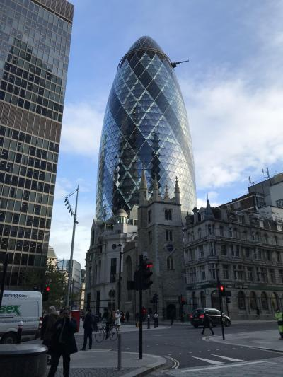 ロンドン ロッテルダム アムステルダム 建築をめぐる1人旅 -2日目- 1日だけのロンドン 憧れの高層ビルに近づく日