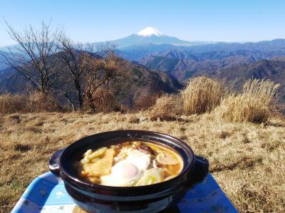 鍋割山で富士山眺めながら鍋焼きうどん【表丹沢県民の森から周回】