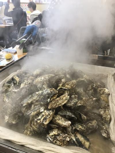 かき小屋*焼き牡蠣食べ放題!で食べた牡蠣の数にびっくり。&ビール工場できたて試飲ツアーin松島湾