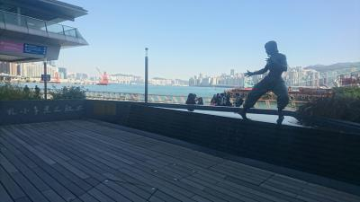 【香港】 チムシャツオイで飲茶をして、星光大道を散歩する。