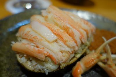 20191211 築地 魚河岸三代目千秋さん、香箱がにとか、刺身盛合せとか、日本酒色々とか