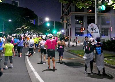 2019.12ホノルルマラソンを完歩!?2-最初の10km Ala Moana CenterからKapi'olani公園まで