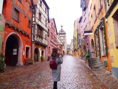 おとぎの国 街全体が世界遺産 リクヴィル 姉妹で行くヨーロッパ旅行 4日目