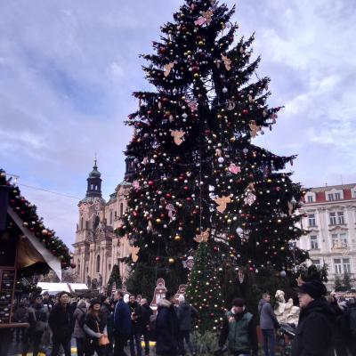 大混雑のプラハを旅する