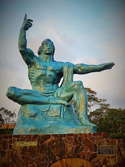 長崎-3 平和公園 平和祈念像-長崎の鐘-平和の泉 ☆原爆の記憶/恒久平和の追求を