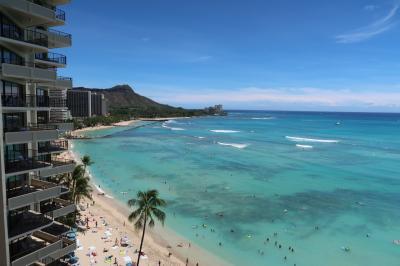 ハワイ1日目 JALプレエコで成田からホノルルへ、ダイヤモンドヘッドが見えるスイートに感激