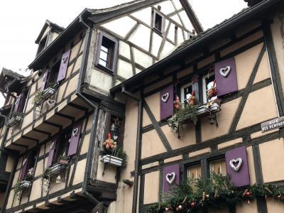 ドイツ黒い森地方と美しきアルザス地方7つのクリスマスマーケット6日間 2日目の2 コルマール後半~リクヴィル