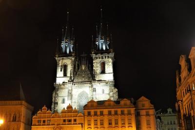 プラハ街歩き(二日目の2)夜景スナップ