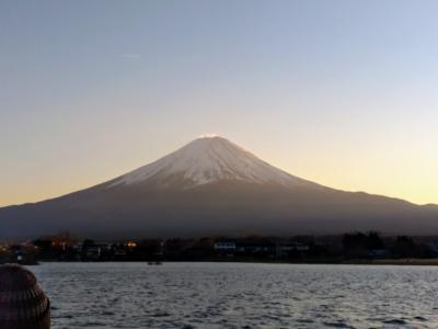 富士山がきれいに見えました。笹ご茶屋のランチと、象牙美術館、河口湖アンソレイユ号でのんびり遊覧20分
