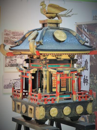 長崎25 軍艦島クルーズd  高島上陸 石炭資料館-見学 ☆端島神社の神輿*往時を偲ぶ