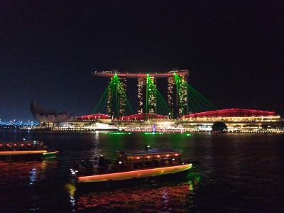 モルディブのんびりマイル旅(その1)~経由地のシンガポール編①:グルメと夜景~