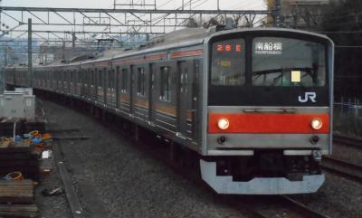 2019年 12月下旬 冬至・・・・・②武蔵野線205系惜別乗車
