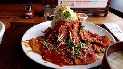 松本で昼食。豚さん食堂