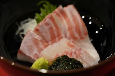 20191225-1 豊洲 高はしさん、吉岡屋さんのべったら漬、いしがき鯛の刺身、えぼだい塩焼