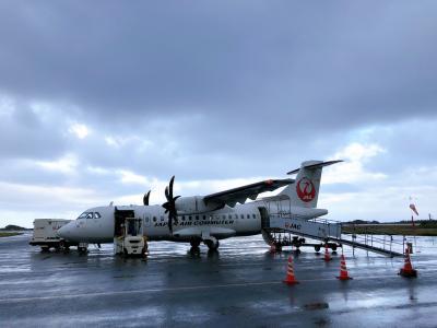 屋久島、福岡から屋久島へ飛ぶ飛行機を選んだのが吉となった往路。