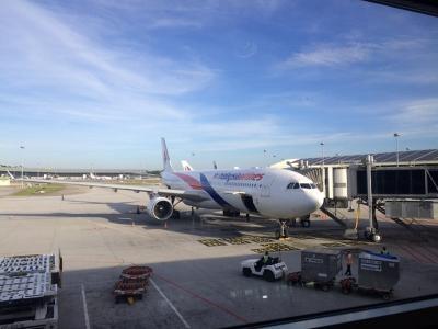 マレーシア航空の欠航にぶち当たる