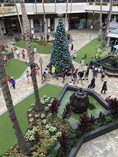 ハワイのChristmas アラモアナショッピングセンター